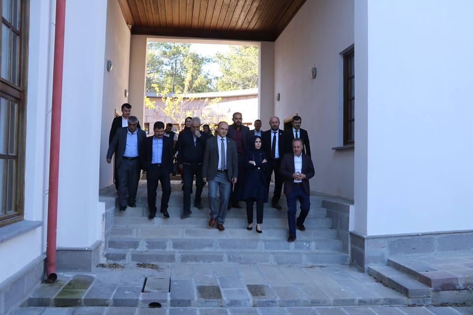 Ankara Milletvekili Sn. Asuman ERDOĞAN ile birlikte Hasanoğlan bölgemiz de restorasyonu yapılan Köy Enstitüsü Kültür binamızı gezdik.