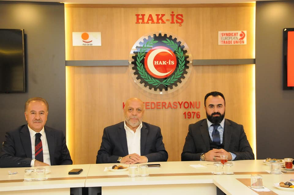 HAK-İŞ Federasyonu Genel Başkanı Sn Mahmut Arslan beyin değerli babasının vefatı nedeniyle taziye ziyaretinde bulunduk.